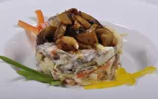 Салат с жареными шампиньонами: рецепт приготовления