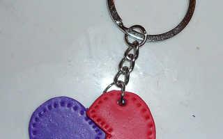 Серьги в форме сердец ко Дню всех влюбленных из полимерной глины