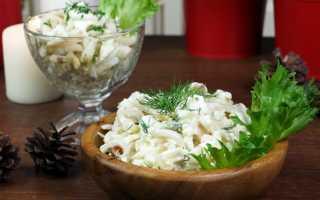 Салат из кальмаров с яблоками: рецепты приготовления
