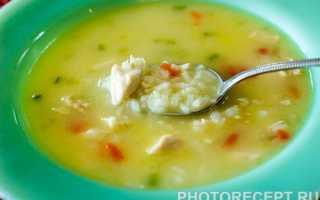 Суп куриный с рисом: рецепт