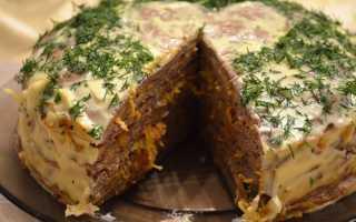 Торт печеночный из куриной печени: съедается первым!