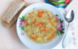 Суп куриный с вермишелью: рецепт приготовления
