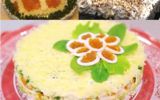 Салат из консервированных кальмаров – праздник на столе